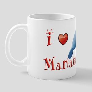 I-love-manatees-long Mug