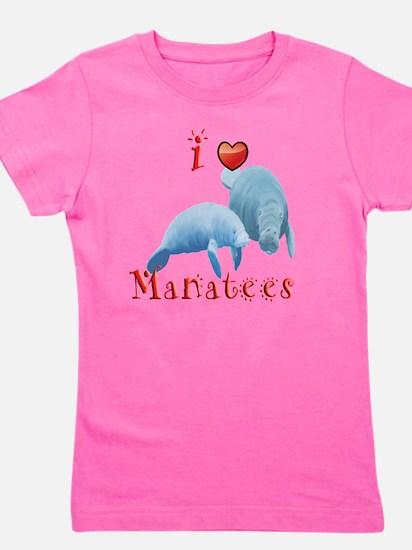 I-love-manatees Girl's Tee