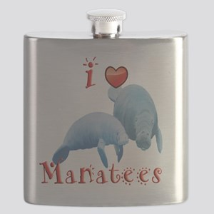I-love-manatees Flask