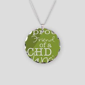 proud friend copy Necklace Circle Charm