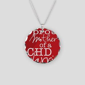 proud mother copy Necklace Circle Charm