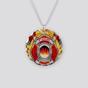 FIRERESCUE Necklace Circle Charm