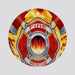 FIRERESCUE Round Ornament