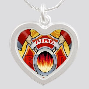 FIRERESCUE Silver Heart Necklace
