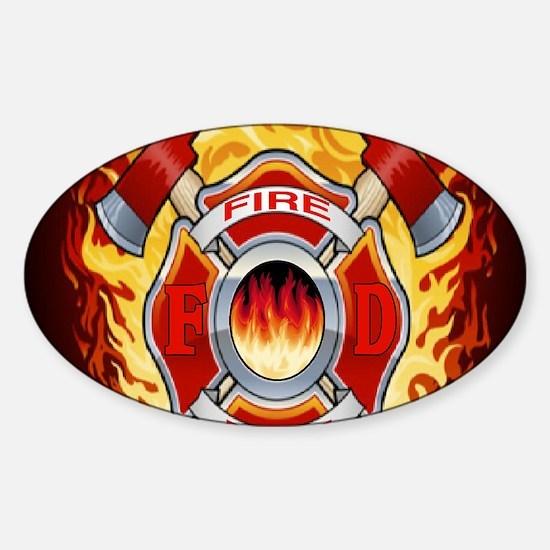 FIRERESCUE Sticker (Oval)
