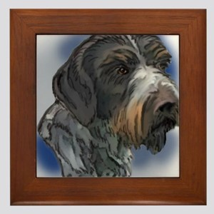 german_wirehaired_pointer1 Framed Tile
