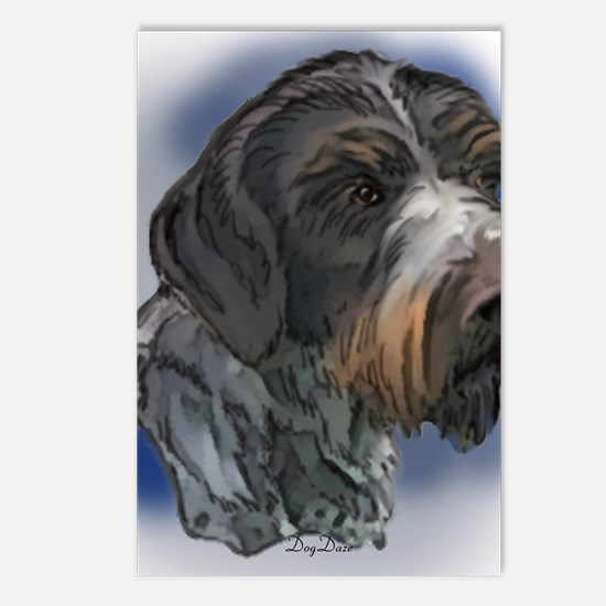 german_wirehaired_pointer Postcards (Package of 8)