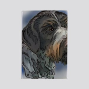 german_wirehaired_pointer1 Rectangle Magnet