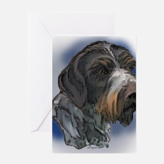 german_wirehaired_pointer1 Greeting Card