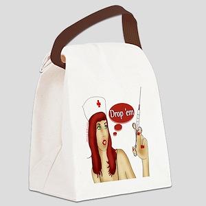 nurse_needle copy Canvas Lunch Bag