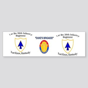 1st Bn 26th Infantry mug 2 Sticker (Bumper)