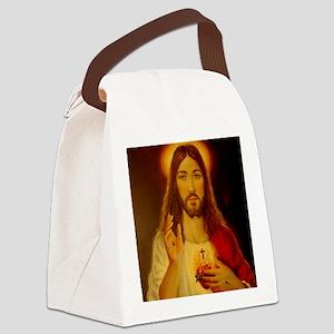 JESUS CHRIST  LorAnge Art 2011 2x Canvas Lunch Bag