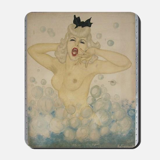 Bubble Girl 1944 by FSK Mousepad