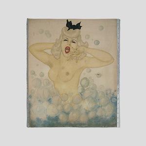 Bubble Girl 1944 by FSK Throw Blanket