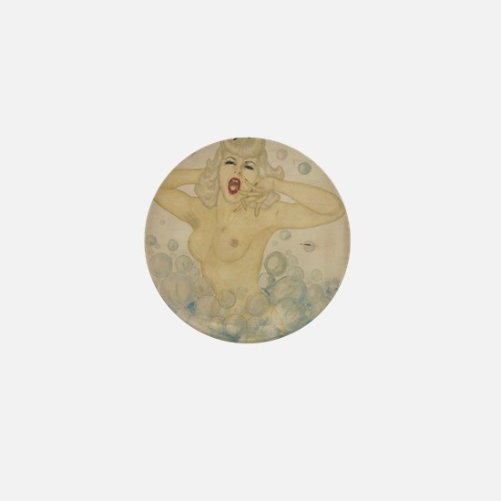 Bubble Girl 1944 by FSK Mini Button