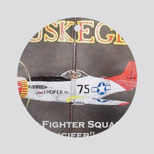 Tuskegee P-51 Lucifer Round Ornament