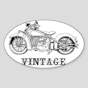 classic2-vint-LTT Sticker (Oval)