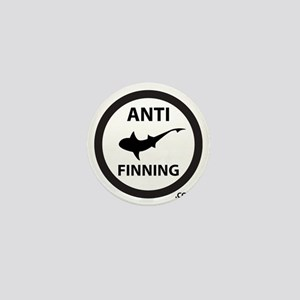 Shark Art (Tighter logo) - Anti-Shark  Mini Button