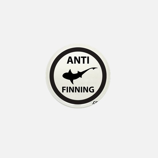 Shark Art (Tighter logo) - Anti-Shark  Mini Button