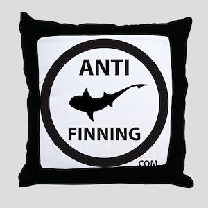 Shark Art (Tighter logo) - Anti-Shark Throw Pillow