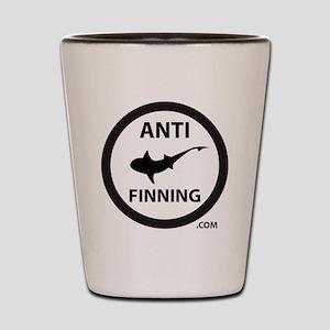 Shark Art (Tighter logo) - Anti-Shark F Shot Glass
