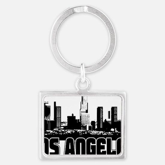 Los Angeles Skyline Landscape Keychain