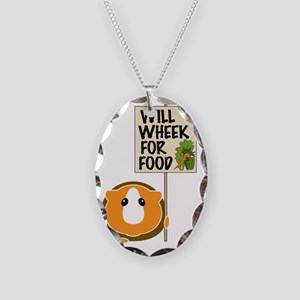 willwheekforfood Necklace Oval Charm