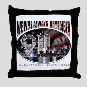 Remembering 9/11 Throw Pillow