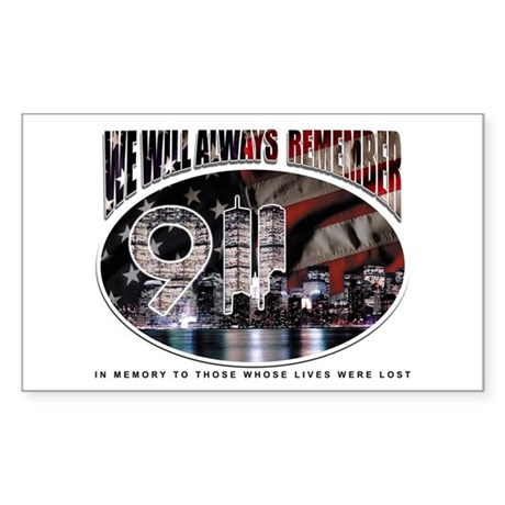 Remembering 9/11 Rectangle Sticker
