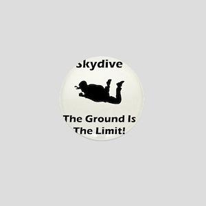 Skydive Ground Limit Black Mini Button