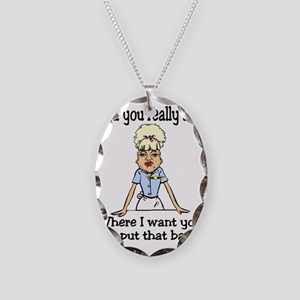 did you ask Necklace Oval Charm