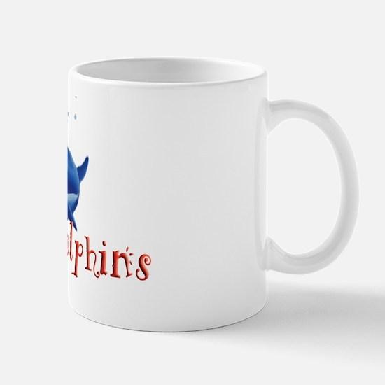 I-love-dolphins-long Mug