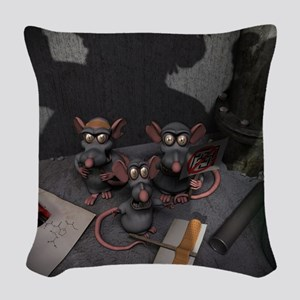 Lab Rats Unite Woven Throw Pillow