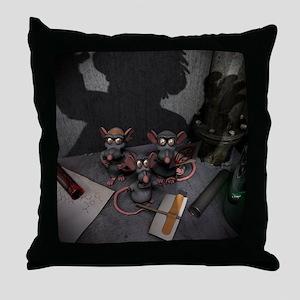 Lab Rats Unite Throw Pillow