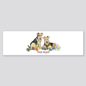 Welsh Terrier Toys Bumper Sticker