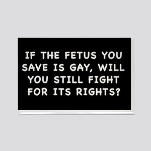 fetus rightssticker Rectangle Magnet