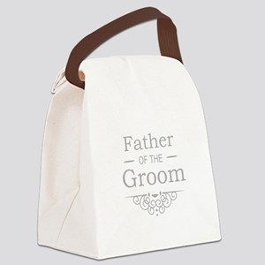Father of the Groom silver Canvas Lunch Bag