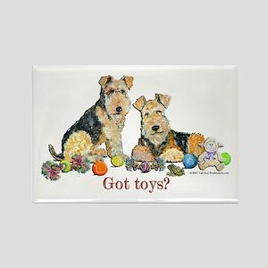 Welsh Terrier Toys Rectangle Magnet