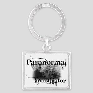 paranormal investigator light Landscape Keychain