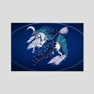 Winged Unicorn -oval_sticker Rectangle Magnet