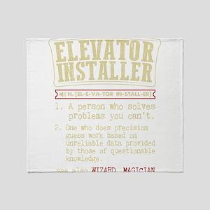 Elevator Installer Dictionary Term T Throw Blanket