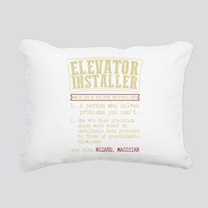 Elevator Installer Dicti Rectangular Canvas Pillow