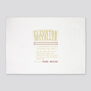 Elevator Installer Dictionary Term 5'x7'Area Rug
