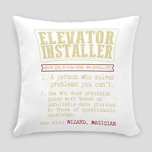Elevator Installer Dictionary Term Everyday Pillow
