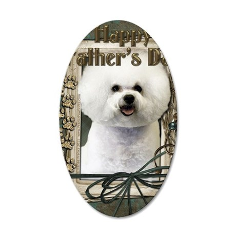 Stone_Paws_Bichon_Frise 35x21 Oval Wall Decal