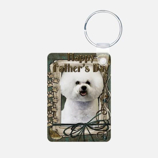 Stone_Paws_Bichon_Frise Keychains