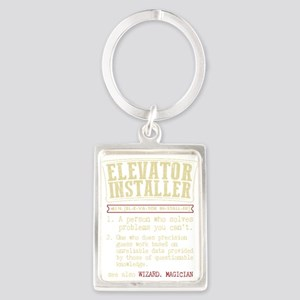 Elevator Installer Dictionary Term T-Shi Keychains