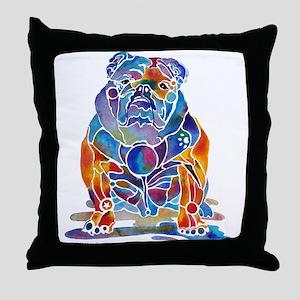 English Bulldogs Throw Pillow
