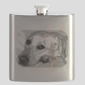 Sad White Lab Flask