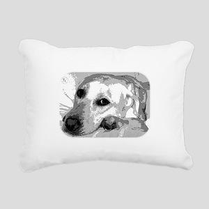 Sad White Lab Rectangular Canvas Pillow